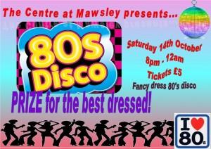 80s disco poster
