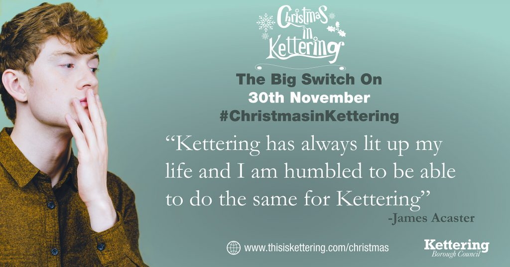 James Acaster Christmas in Kettering Event Lights Switch On