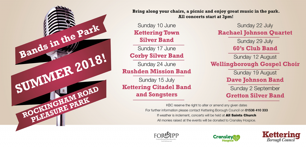 Bands in the Park 2018