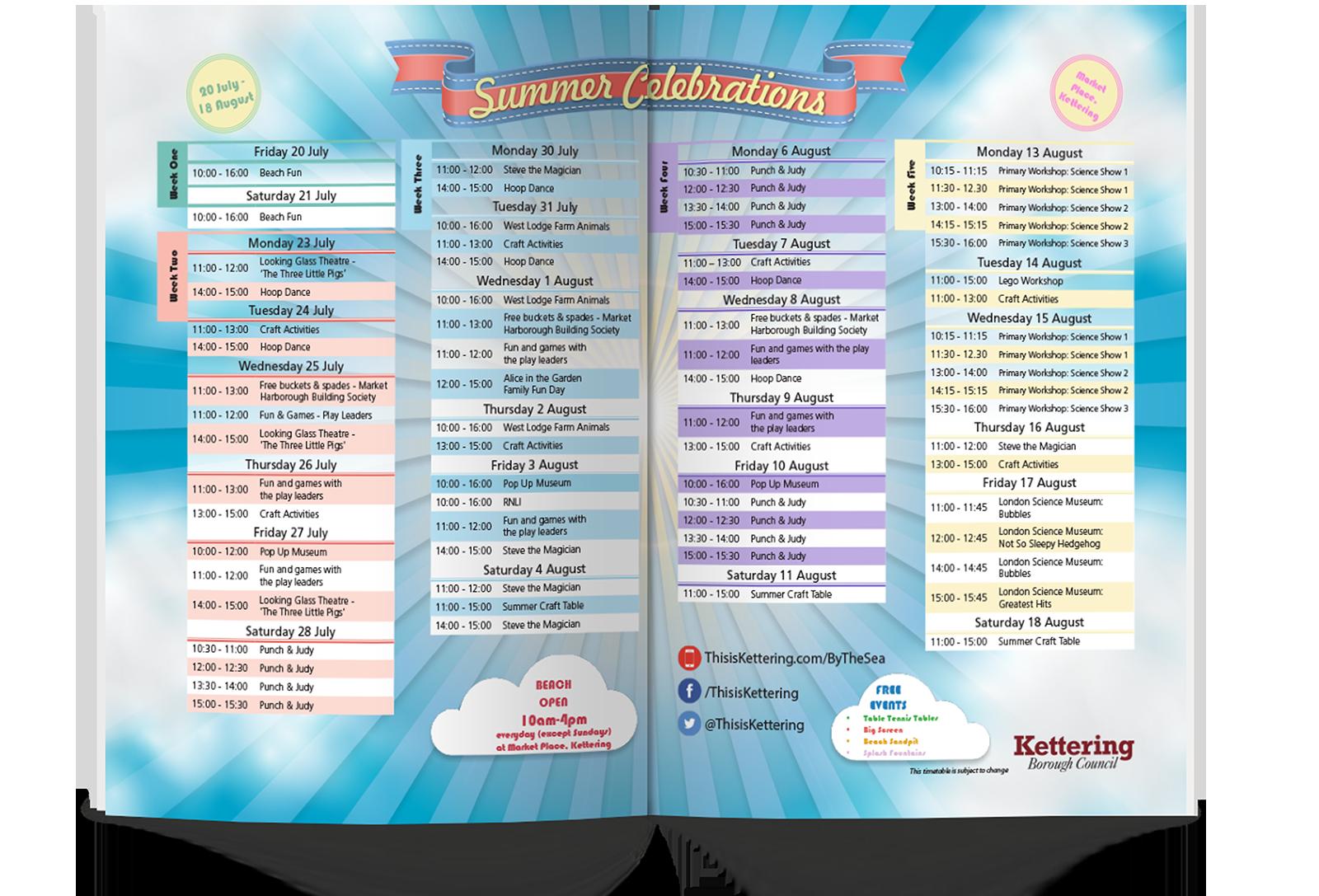 Timetable Mockup
