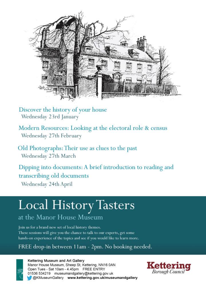 1_Local History Tasters Jan Apr 2019