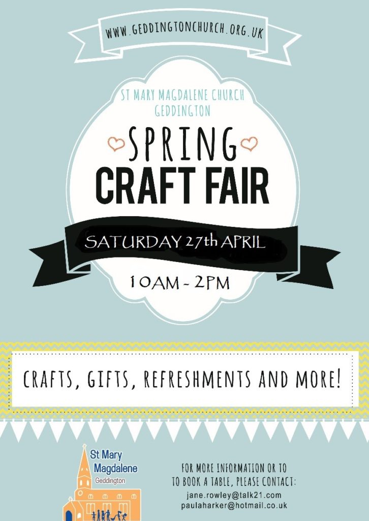 Poster Craft Fair 27.04.19 1