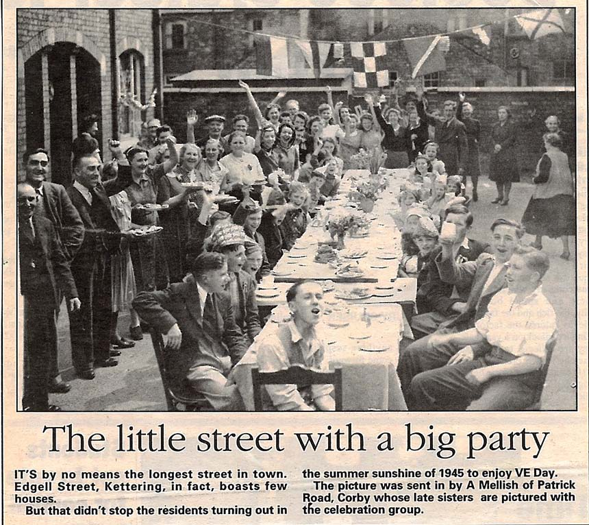 Edgell Street party clipping