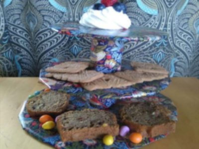 VE Day cake stand